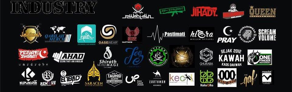 sebagian brand kaos muslim indonesia
