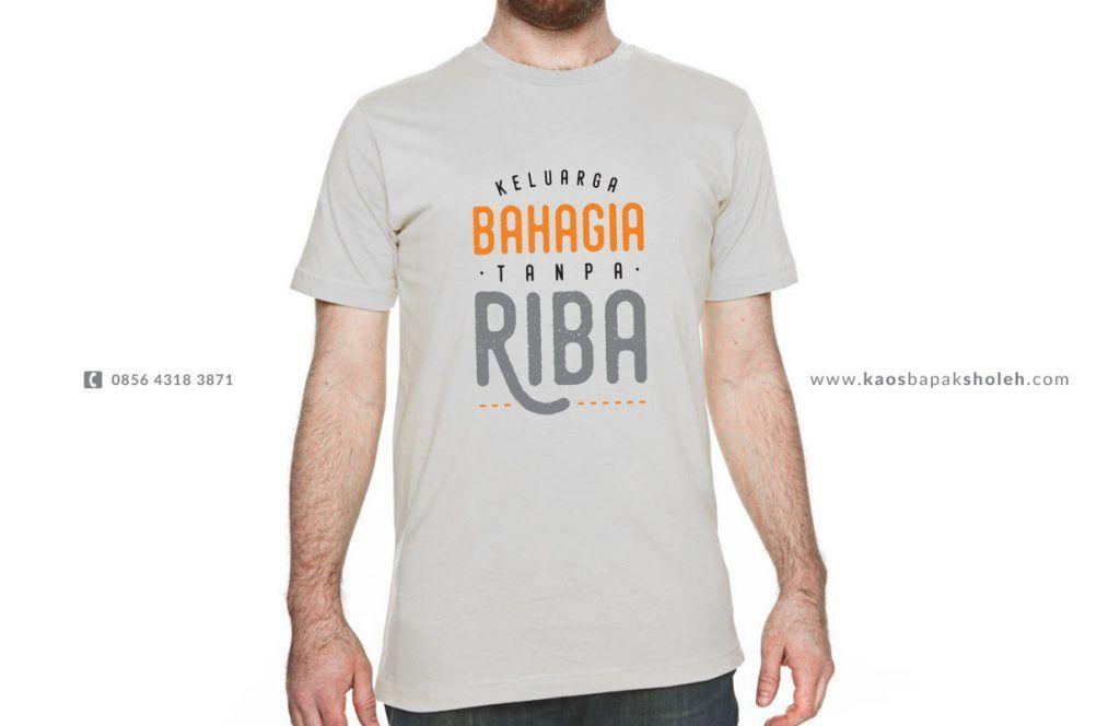Kaos Anti Riba Untuk Kepala Keluarga