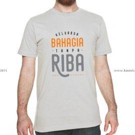 Kaos Muslim Anti Riba, Desain Apik & Sederhana