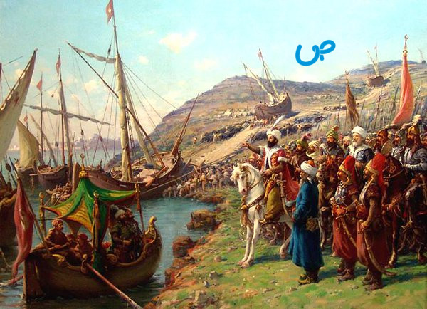 Gambar Ilustrasi Pemindahan Kapal oleh Muhammad Al Fatih
