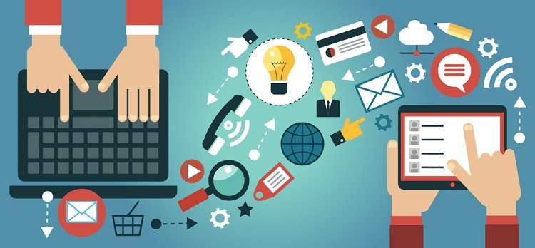 Ilustrasi dunia digital marketing via SEO Anak Sholeh