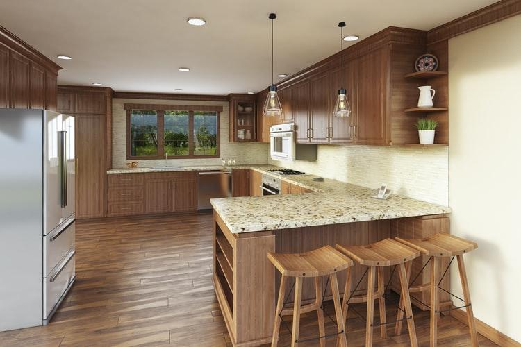 Dapur sederhana dengan lemari kayu, unsplash @gx6